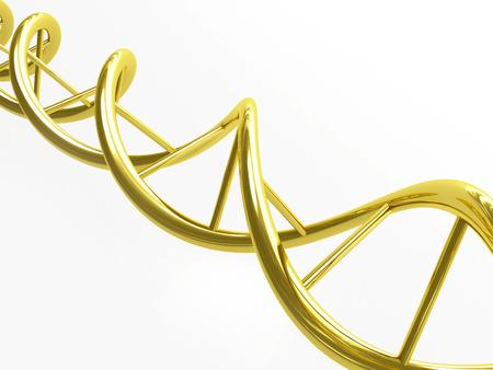 Gold DNA spiral Stock Photo