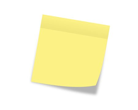 memo pad: Yellow sticky note