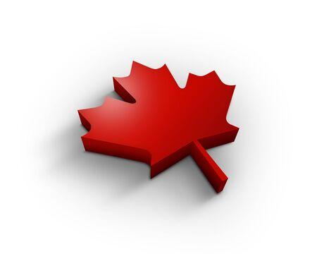 3D canadian marple leaf