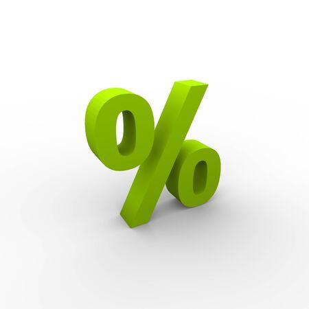 the percentage: Green percentage icon Stock Photo