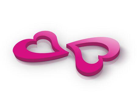 pink hearts: Pink hearts