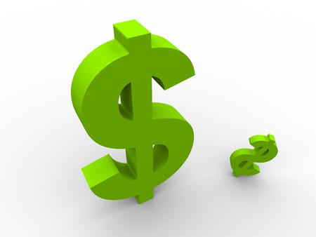 dollar symbol: Green dollar symbol