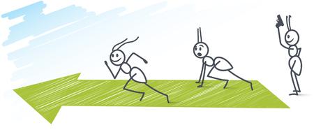 Ants sprinting