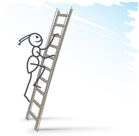 Ameise Klettern auf Leiter