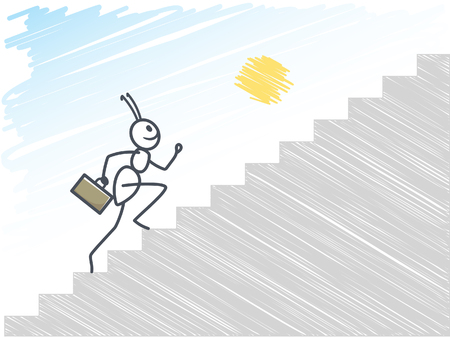 formica: Ant running up stairs Illustration