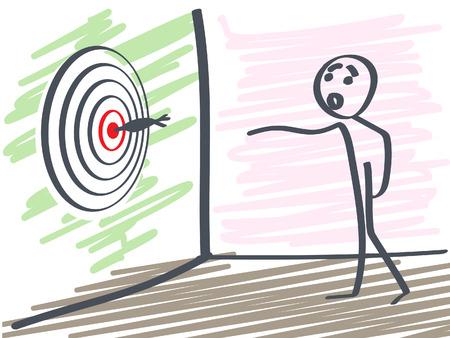 throwing: Person throwing darts