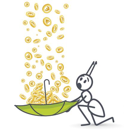 Raining money 向量圖像
