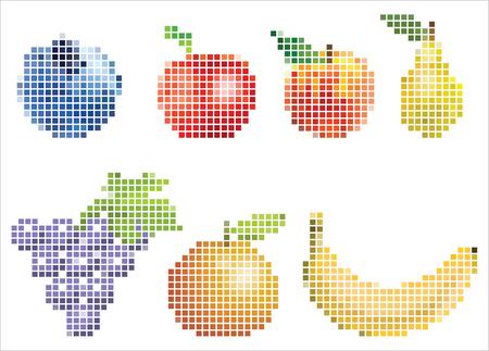 Pixelated Fruit