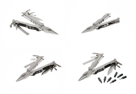 Set pictures of tongs on a white background