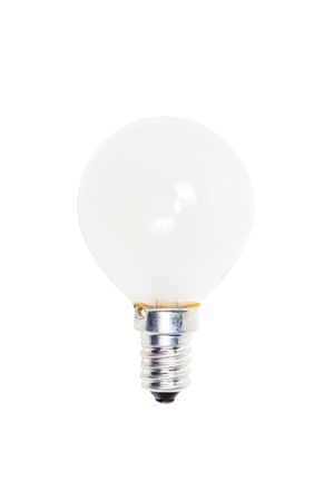 incandescent: Incandescent electric lamp isolated on white background