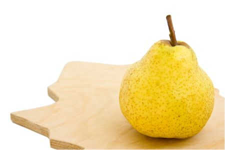 Appetizing pear isolated over white photo