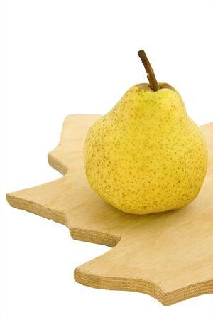 Pear on isolated white background photo