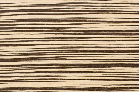 wood laminate: Close-up zebra wood texture for background Stock Photo