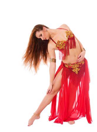 Beautiful girl dancer of eastern belly dance Stock Photo - 5885484