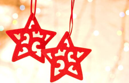 Christmas decorative star over blurred background Stock Photo - 5916116