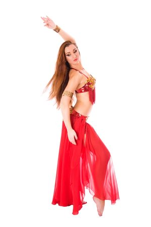 Beautiful girl dancer of eastern belly dance photo