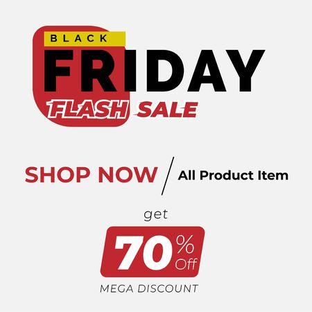 Black Friday sale premium inscription design template. Black Friday banner. Vector illustration flyer or poster promotion Archivio Fotografico - 129794668