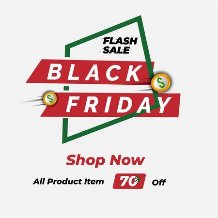 Black Friday sale premium inscription design template. Black Friday banner. Vector illustration flyer or poster promotion Ilustrace