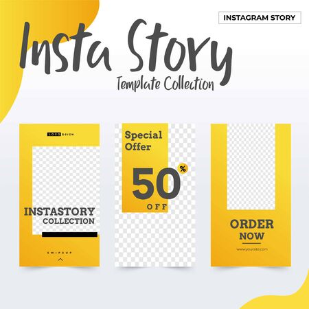 Template collection Social Media post, instagram post template collection, awesome promotional banner design vector  イラスト・ベクター素材