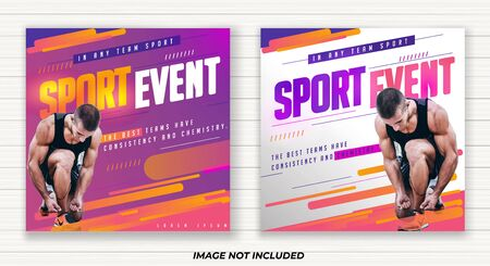 sport event design vector, annual year, in the any club location, all age, with colorful purple and pink, clean and clear design, can used for flyer banner and more