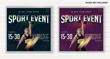 gym sport event design vector, annual year, in the any club location, all age, with colorful green and pink, clean and clear design, can used for flyer banner and more Stock fotó - 133741198