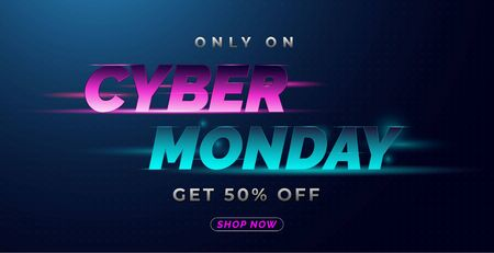 only on cyber Monday typographic text effect and background of abstract light speed, and the concept of blazing in the dark, then beautified with abstract elements, to promote advertising materials for various online or print media Illusztráció