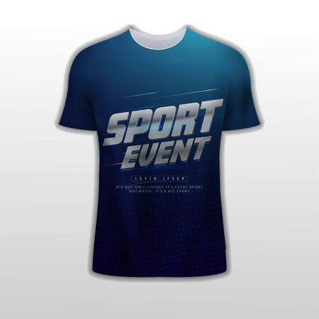 Complementary sports shirt design with an elegant silver metallic silver background gradient theme and abstract layout composition Illustration