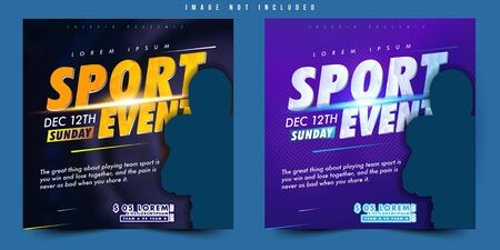 flyer, poster or banner design vector sport event football soccer with simple layout elegant abstract background and balance composition, editable and customize template Stock fotó - 133741081