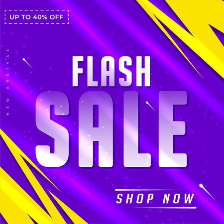 flash sale design banner or poster header to complement the promotional media elements, blue light theme background Stock fotó - 133741084