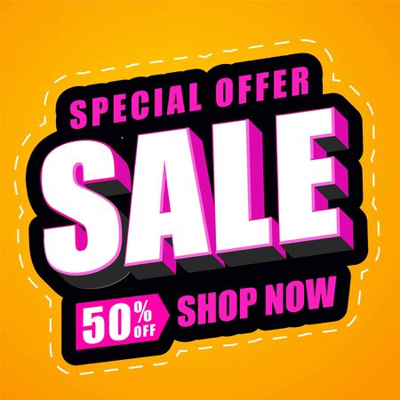 text effect header special offer final sale design element promotional, abstract background, colorful with special effect Stock fotó - 133741089