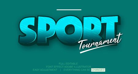 Text effect template vector, easy editable and customize, colorful, simple and elegant, Premium text Vector Illusztráció