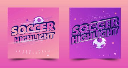 soccer tournament banner design, modern style, conceptual layout, event sport flyer or poster template Stock fotó - 136909256