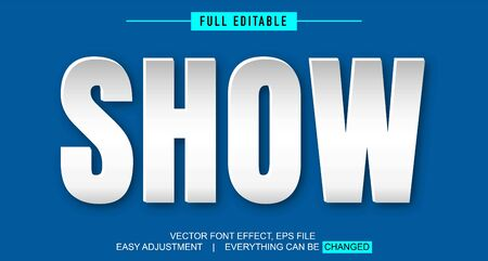paper style shadow text effect design editable vector, easily changed as needed, spotlight from the side, modern and iconic
