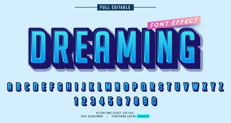 alphabet text effect, modern style for promotional ads, or more big event, special moment