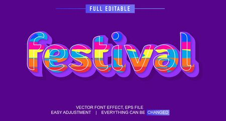 elegant and colorful text effect design, full editable vector, easy to adjust to the needs, full color, modern style and fun