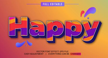 elegant and colorful text effect design, full editable vector, easy to adjust to the needs, full color, modern style and fun Stock fotó - 137701815
