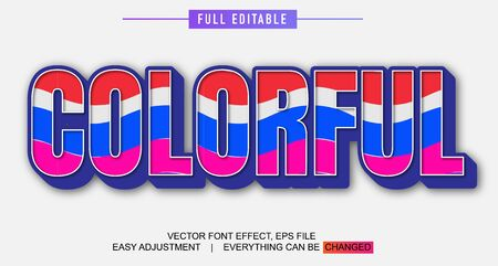 elegant and colorful text effect design, full editable vector, easy to adjust to the needs, full color, modern style and fun Stock fotó - 137701784