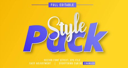 elegant and colorful text effect design, full editable vector, easy to adjust to the needs, full color, modern style and fun Stock fotó - 137701343