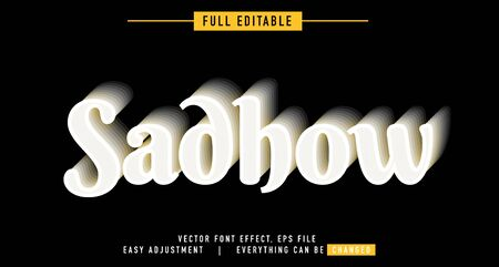 shadow and metal text effect design editable vector, easy to change as needed, luminous outside has a shadow behind, the main element of the title is modern and beautiful,