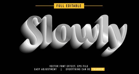 shadow and metal text effect design editable vector, easy to change as needed, luminous outside has a shadow behind, the main element of the title is modern and beautiful, Stock fotó - 137947965