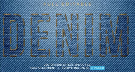 text font effect editable vector template, with the style of sewing thread, embroidery, and can be used for promotion or event fabrics, fashion, yarn, weaving and craft, easy to edit and adjust as needed Stock fotó - 138191224