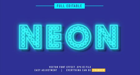 neon text effect that can be edited easily, letters are bright and attractive, you can use it for titles, quotes, promotional design elements and much more Stock fotó - 138450368