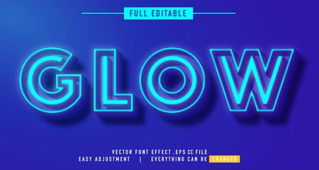 neon text effect that can be edited easily, letters are bright and attractive, you can use it for titles, quotes, promotional design elements and much more Stock fotó - 138450463