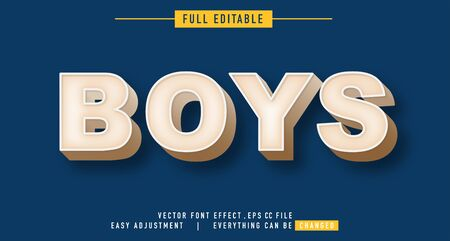 Boys text effects that can be easily edited, bold, modern and attractive, you can use them for titles, quotes, promotional design elements and much more Illusztráció