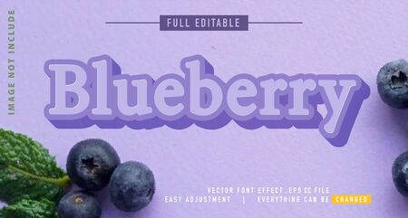 blueberry text effects that can be easily edited, bold, modern and attractive, you can use them for titles, quotes, promotional design elements and much more