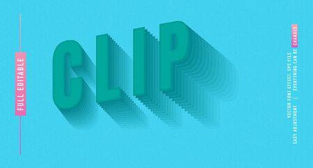 Clip premium text effect  vector template Illusztráció