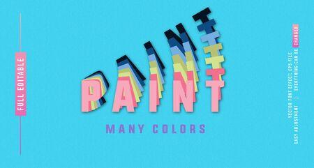 Paint color premium text effect  vector template
