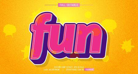 Fun color premium text effect  vector template