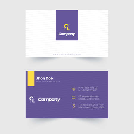 This is a business card template, you can create elegant and professional business cards for your promotion Illusztráció