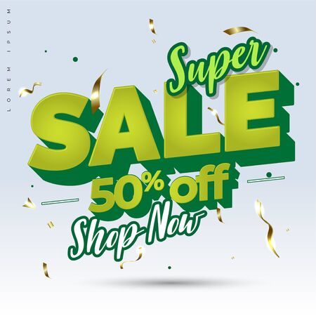 Sale text design banner. for promotional product or service.You can make cool promotions with this design